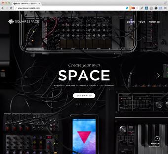 Squarespace.com homepage