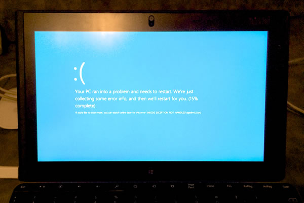 TPT2 Blue Screen of Death