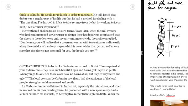 Kindle.app and OneNote marginalia