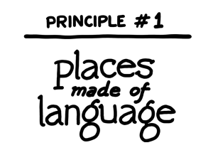 Places made of language