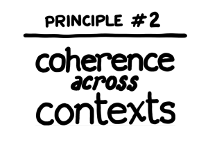 Coherence across contexts