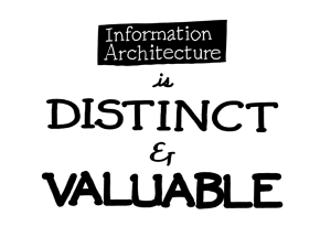 Information architecture is distinct and valuable