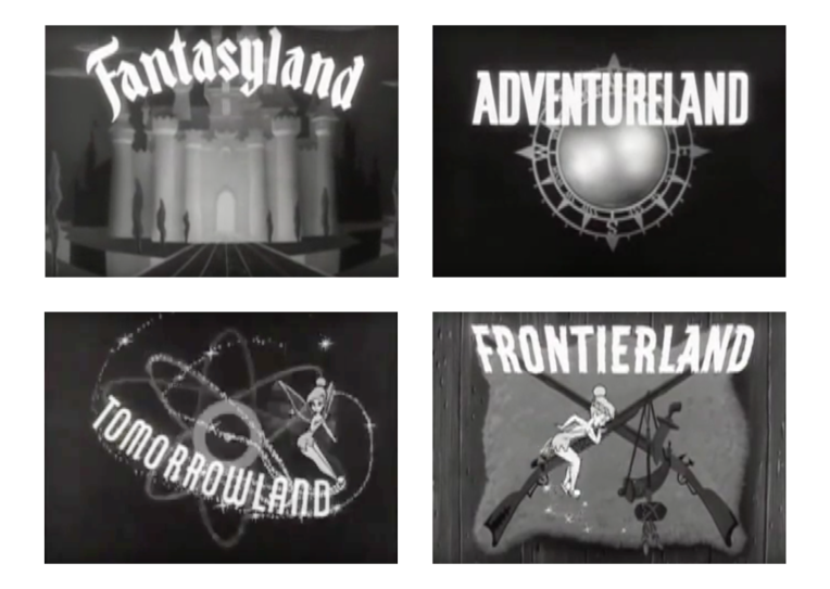 Stills from the first season of the Disneyland TV show (1954). © Disney