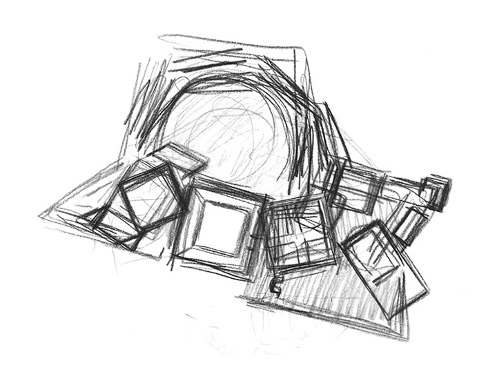 A sketch by Louis Kahn