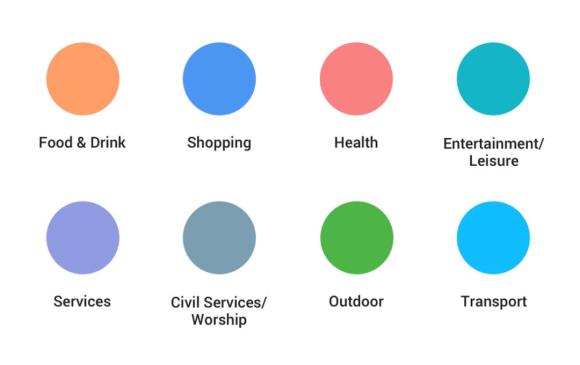 Google Maps's new color scheme