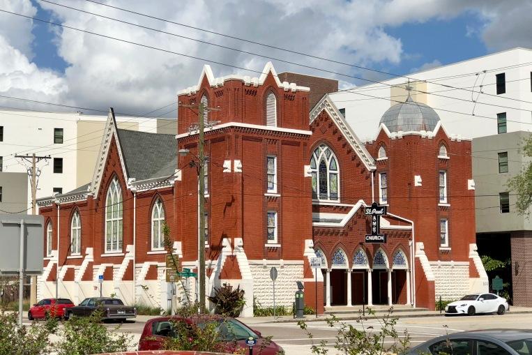 St. Paul A.M.E. Church, a locus of the civil rights movement in Tampa.