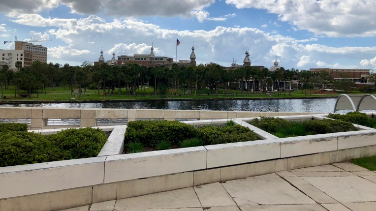 Minarets of the University of Tampa, seen from Kiley Gardens.