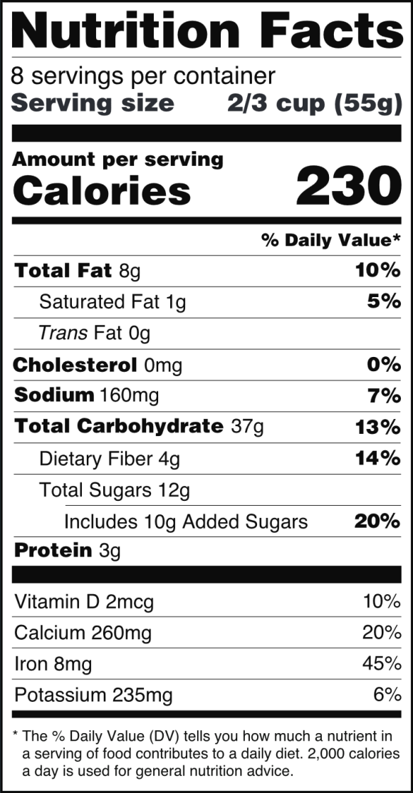 U.S. Nutrition Facts Label