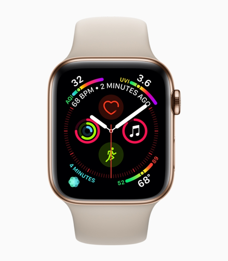 Complications on a Series 4 Apple Watch. Image: Apple.com