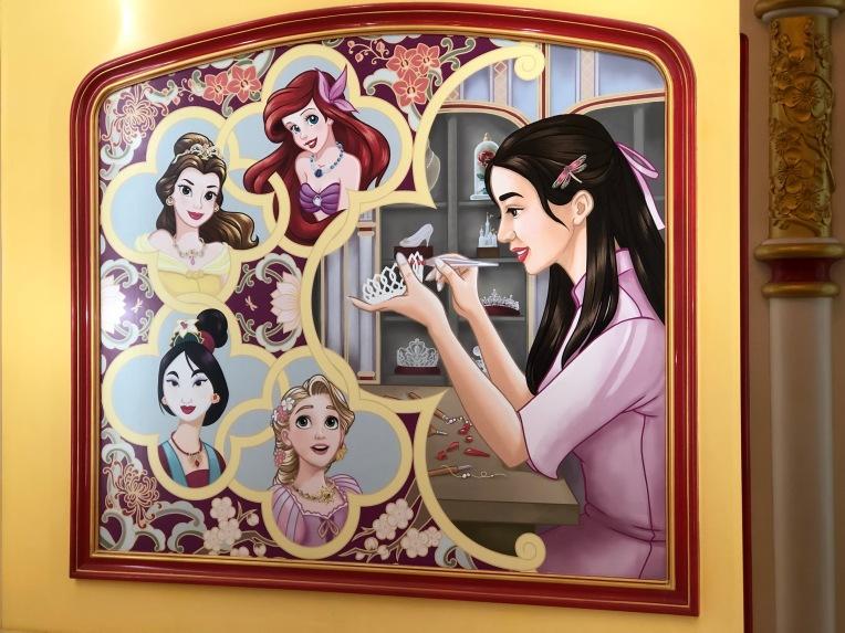 Painting inside Enchanted Storybook Castle at Shanghai Disneyland.