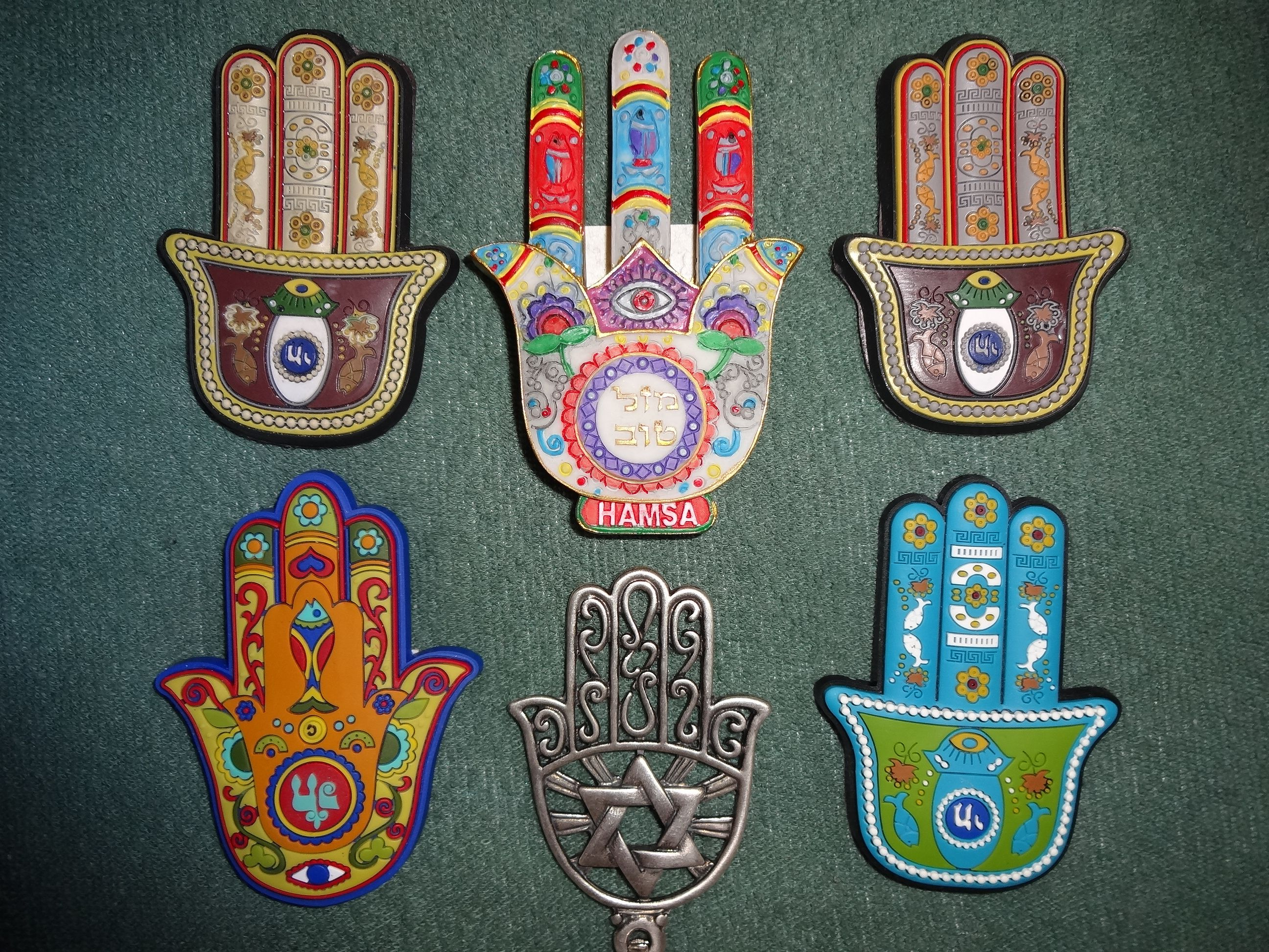 Khamsa talismans (Photo by Bluewind - Own work, CC BY-SA 3.0)